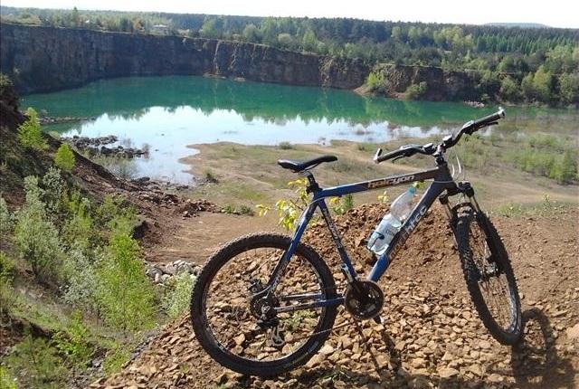 Jaworznianin.pl na rowerze: Kamieniołom Orka