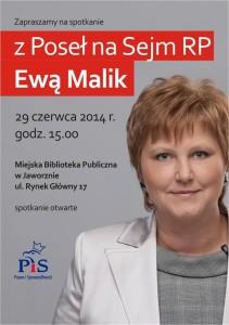 Spotkanie z Ewą Malik