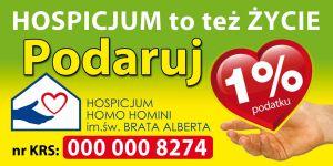 Przekaż 1% podatku na hospicjum!