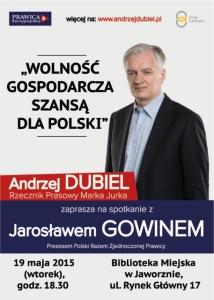 Jarosław Gowin w Jaworznie