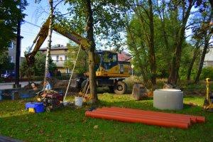 Jesienne prace kanalizacyjne w Jeleniu