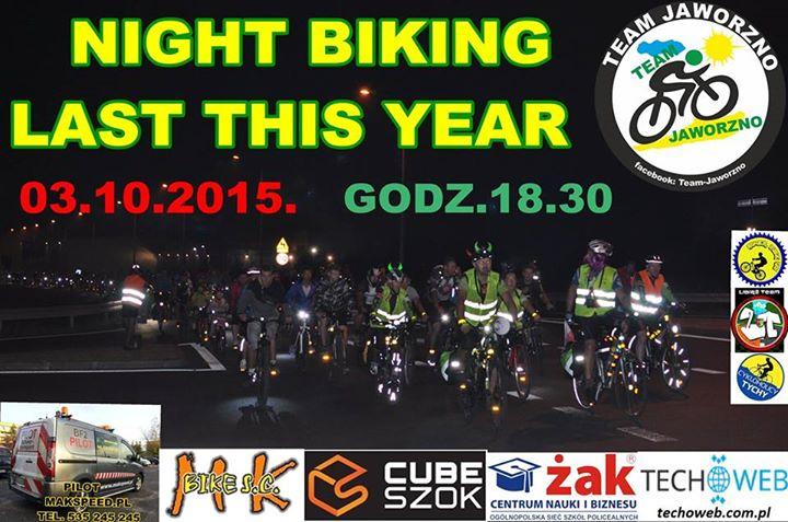 night biking pazdziernik 2015 plakat