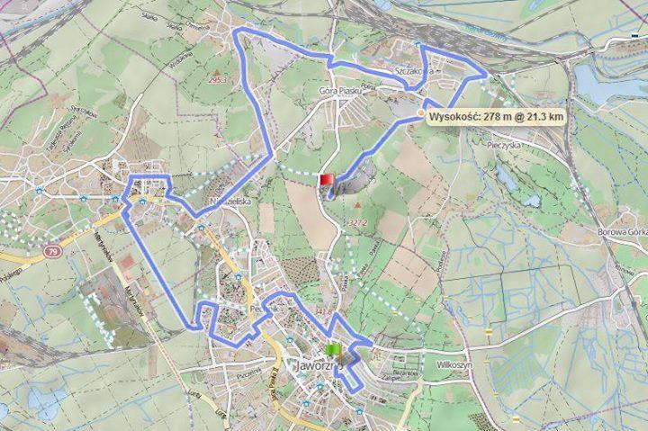 night biking pazdziernik 2015 trasa