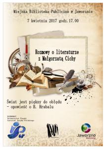 Rozmowy o literaturze z MaA�gorzatA� Cichy