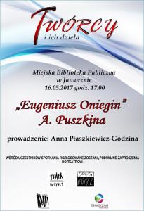 """Twórcy i ich dzieła. """"Eugeniusz Oniegin"""" A. Puszkina"""