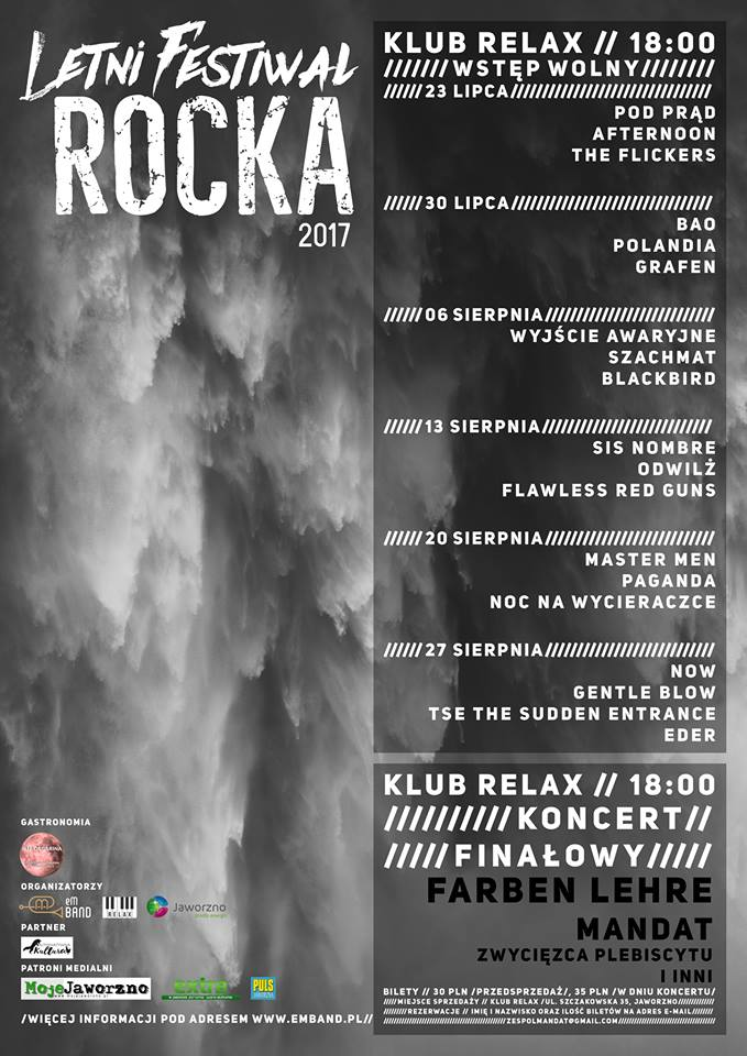 letni festiwal rocka 2017 plakat