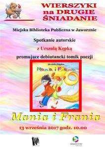 Mania i Frania – spotkanie autorskie z Urszulą Kępką