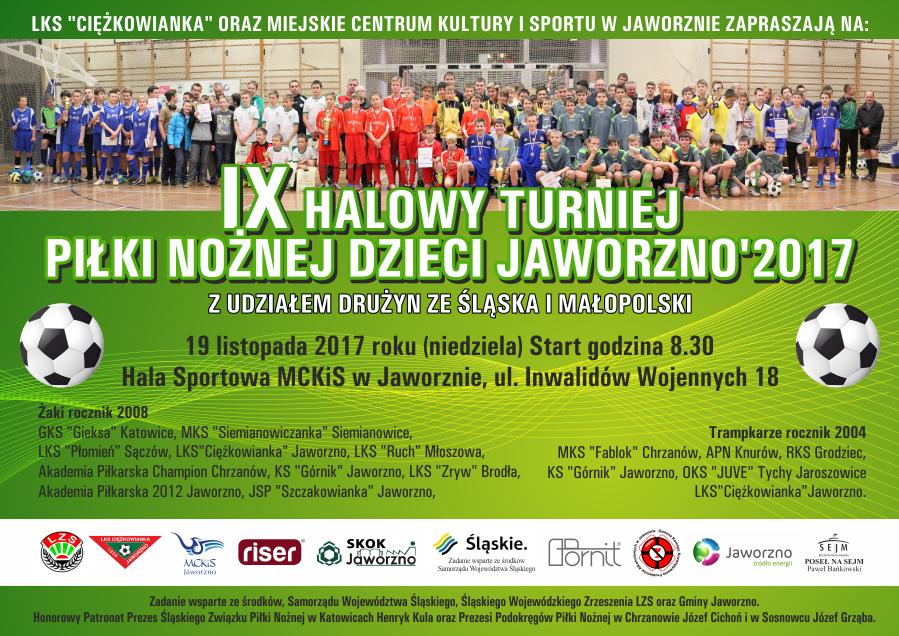 Plakat IX Halowy Turniej Dzieci Jaworzno '2017